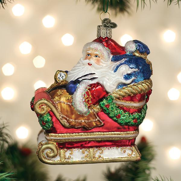 Old World Christmas - Santa In Sleigh Ornament