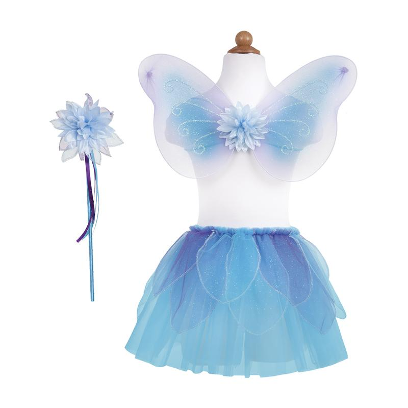 Blue Fancy Flutter Skirt With Wings And Wand - Size 4-7