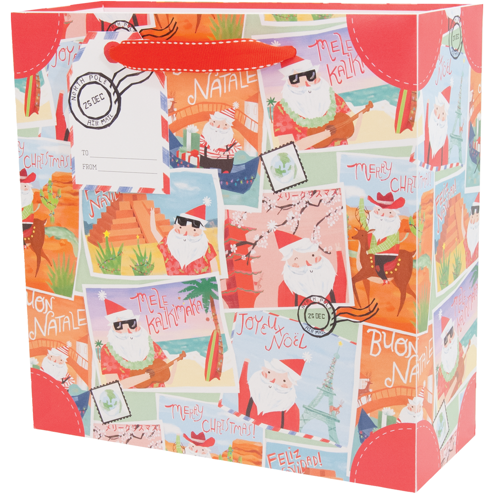 Santa's Vacation - Medium Gift Bag