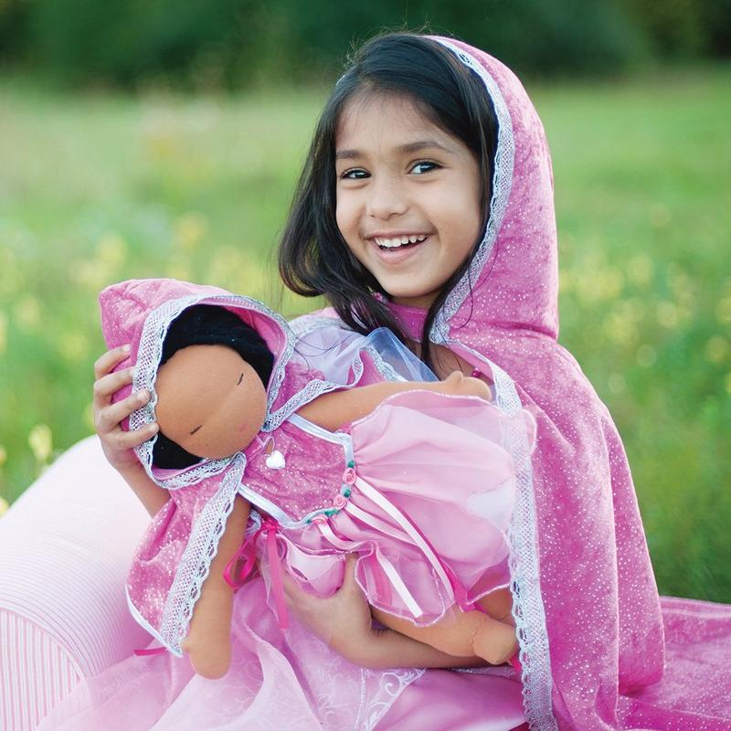 Diamond Sparkle Cape Pink Size 3-4