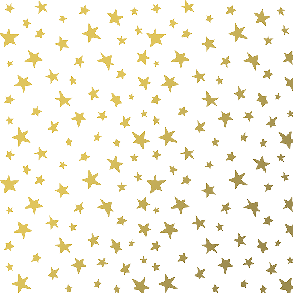 Wrapping Paper - Metallic Gold Stars