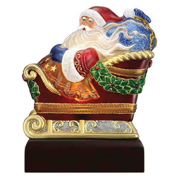 Old World Christmas - 2020 Santa In Sleigh Light Up Figurine