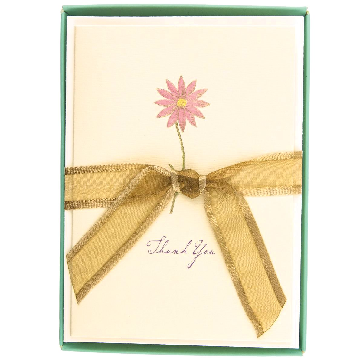 Boxed Thank You Cards - Pink Flower