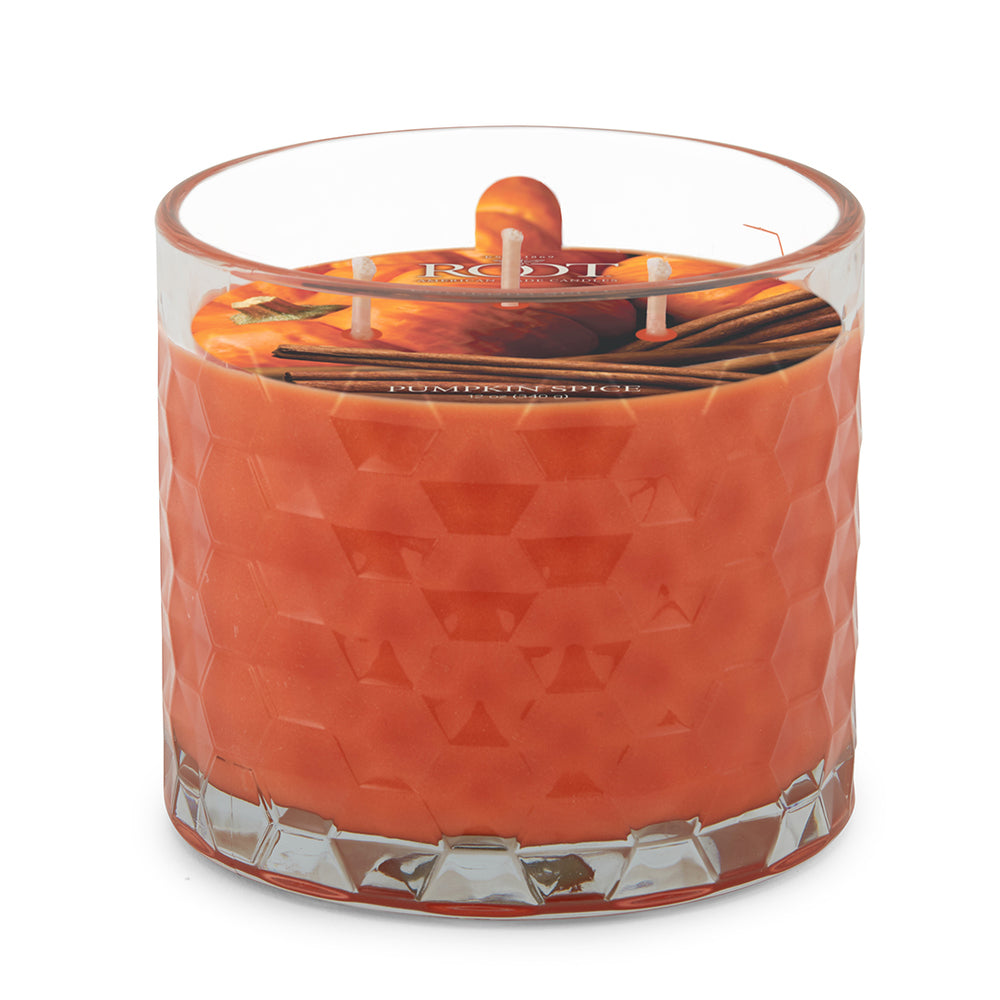 3 Wick Honeycomb Candle - Pumpkin Spice