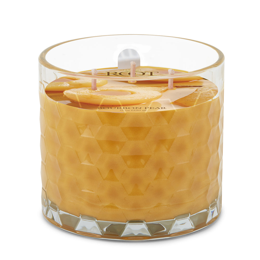 3 Wick Honeycomb Candle - Bourbon Pear