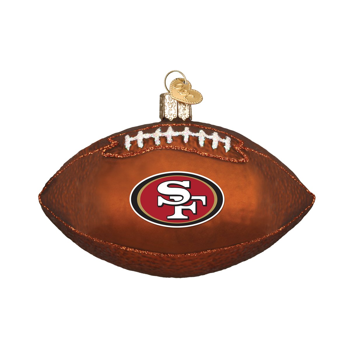 Old World Christmas - NFL SF 49ers Football Ornament