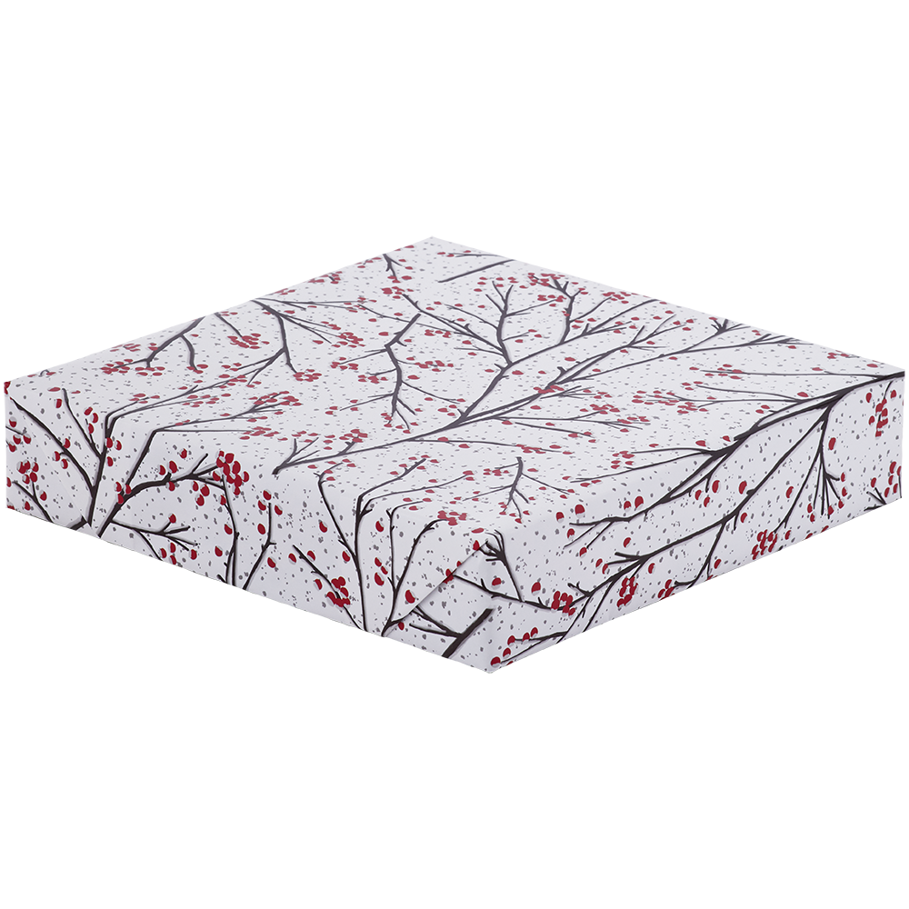 Jumbo Roll Wrapping Paper - Glittered Winter Branches