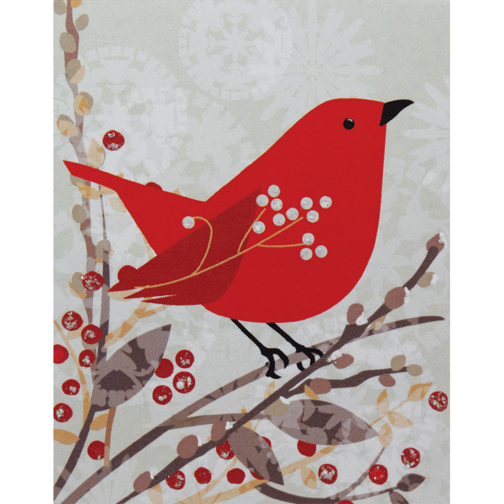 Small Boxed Christmas Cards - Cardinal Collage