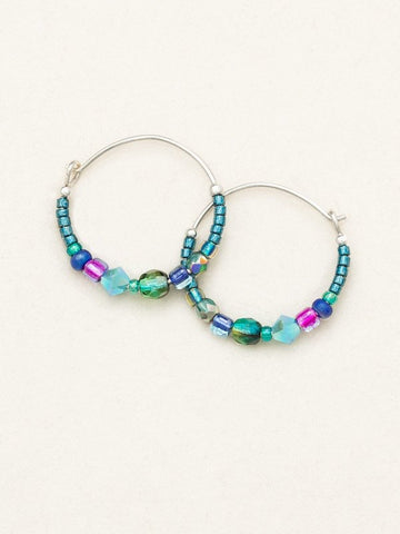Holly Yashi Sonoma Petite Glass Bead Hoops - Peacock