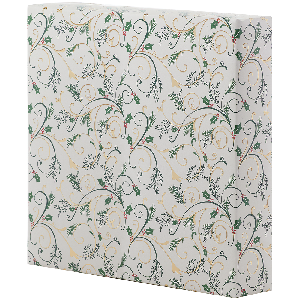 Jumbo Roll Wrapping Paper - Foil Embossed Trumpet of Filigree