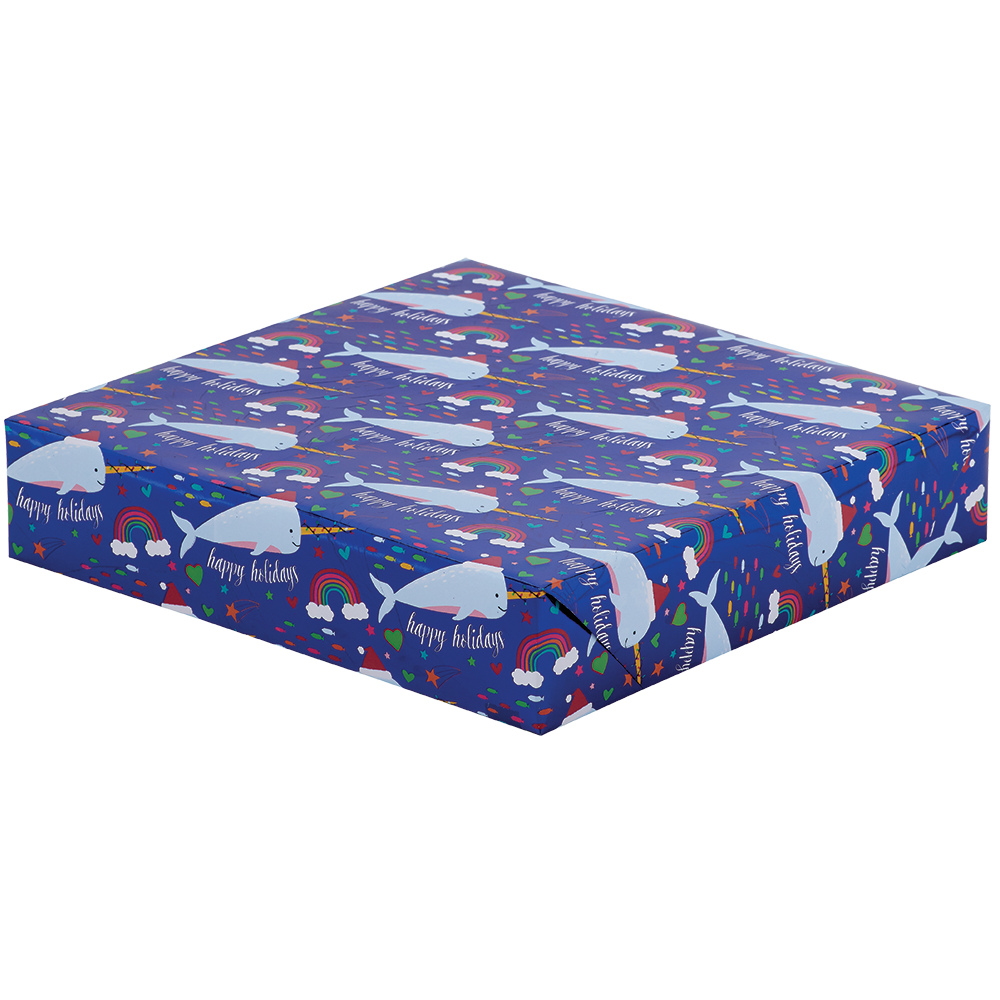 Jumbo Roll Wrapping Paper - Narwhaliday Dreams