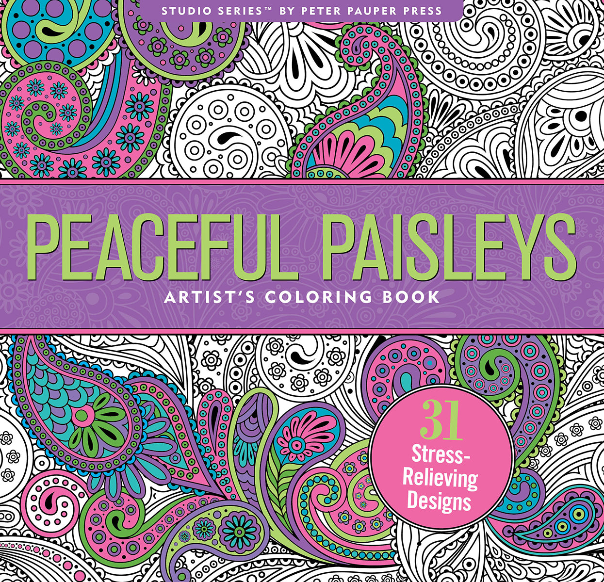 Peaceful Paisleys - Artist's Coloring Book