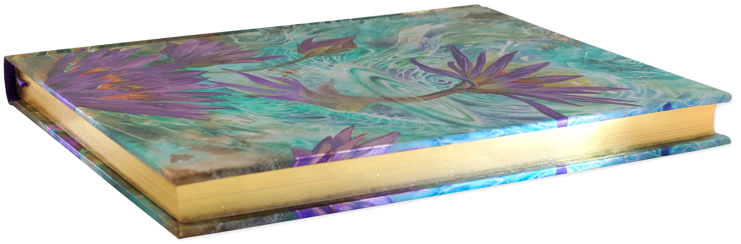 Large Journal - Purple Lotus