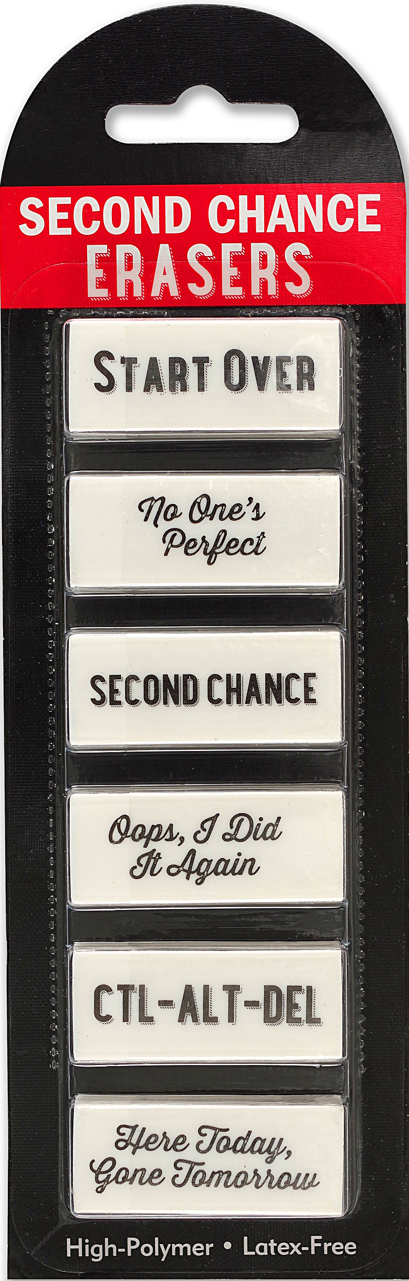 Set Of 6 Second Chance Erasers