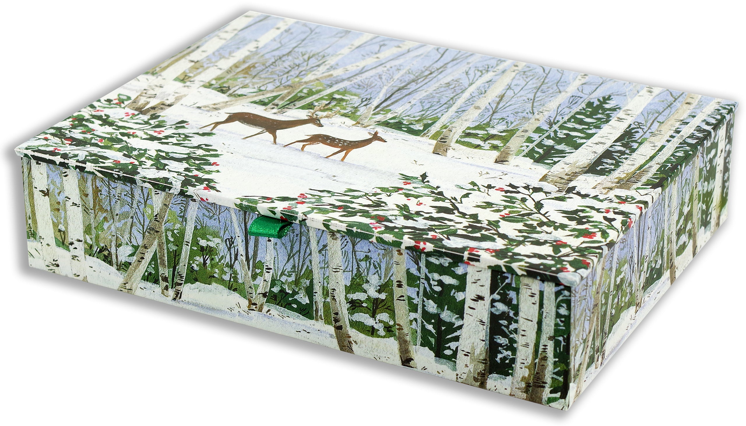 Deluxe Boxed Christmas Cards - Peaceful Forest