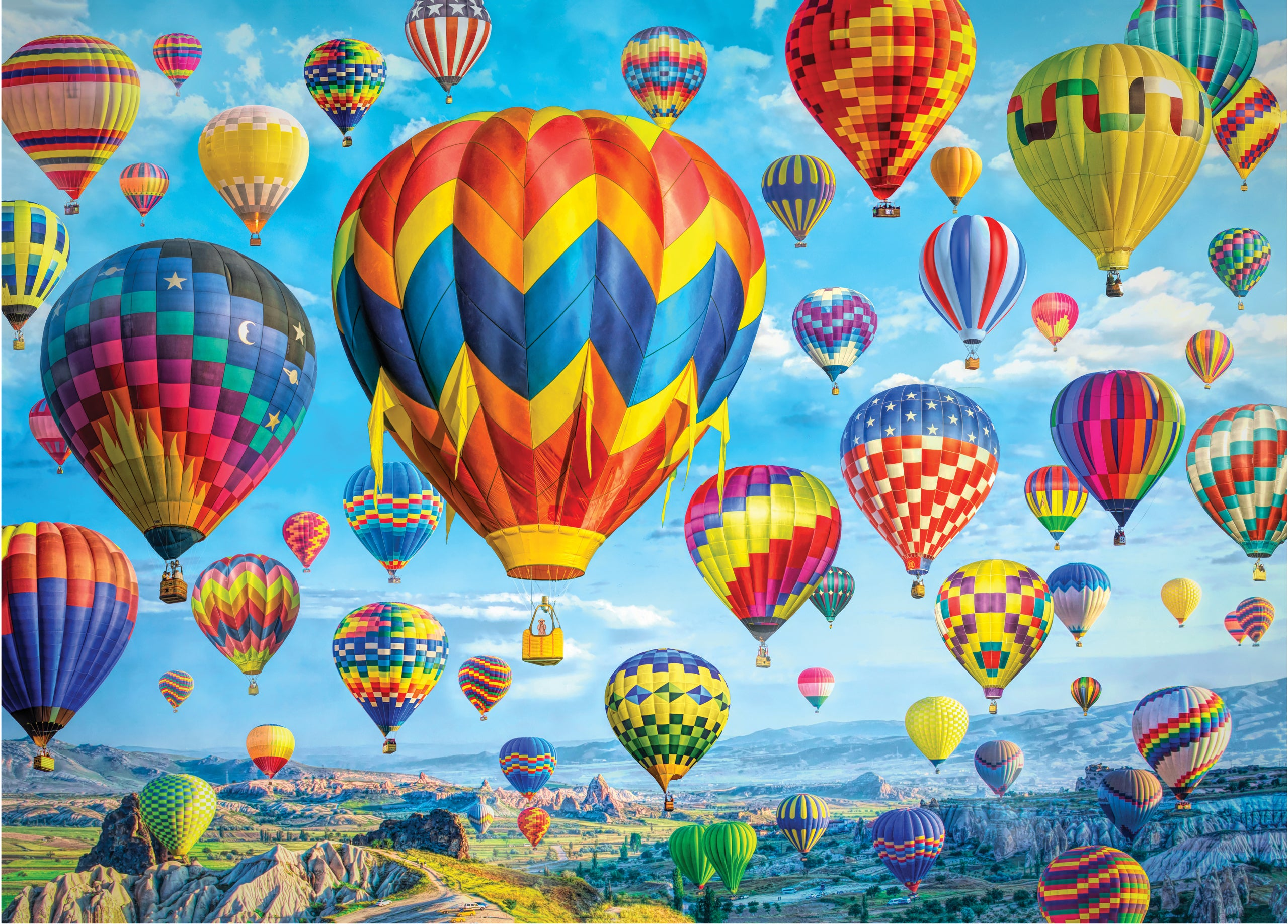 Balloons In Flight 1000 Piece Puzzle