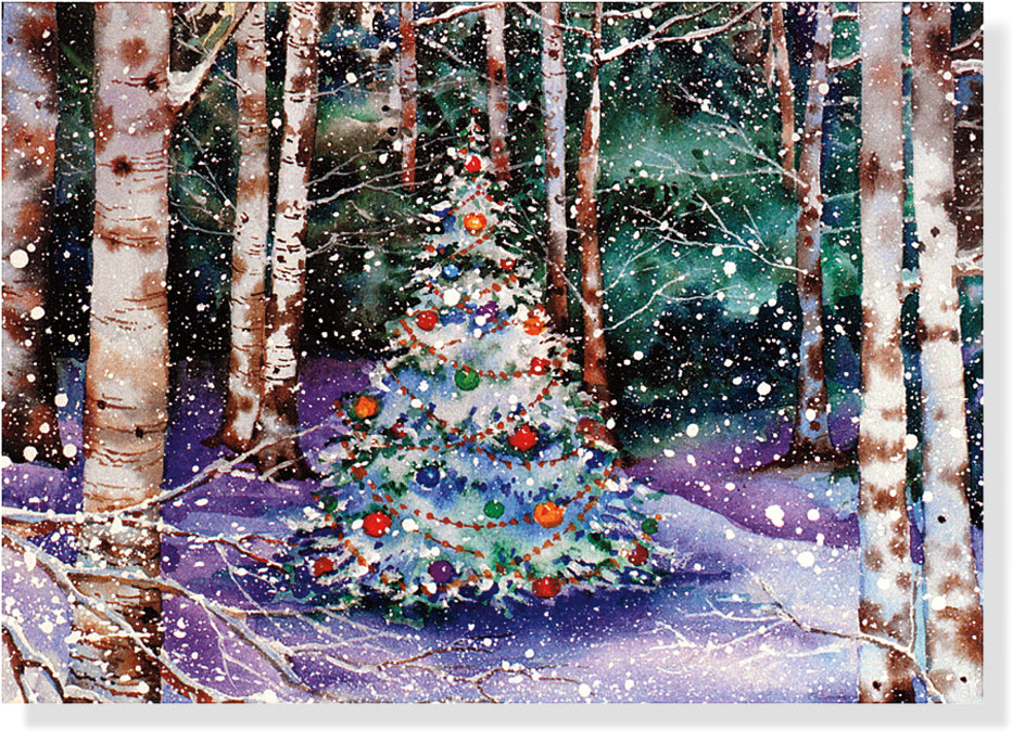Deluxe Boxed Christmas Cards - Festive Forest