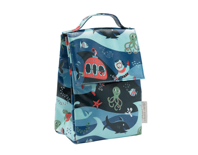 Insulated Classic Lunch Sack - Ocean
