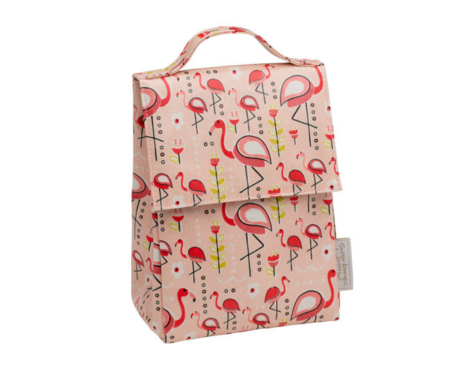 Insulated Classic Lunch Sack - Flamingo