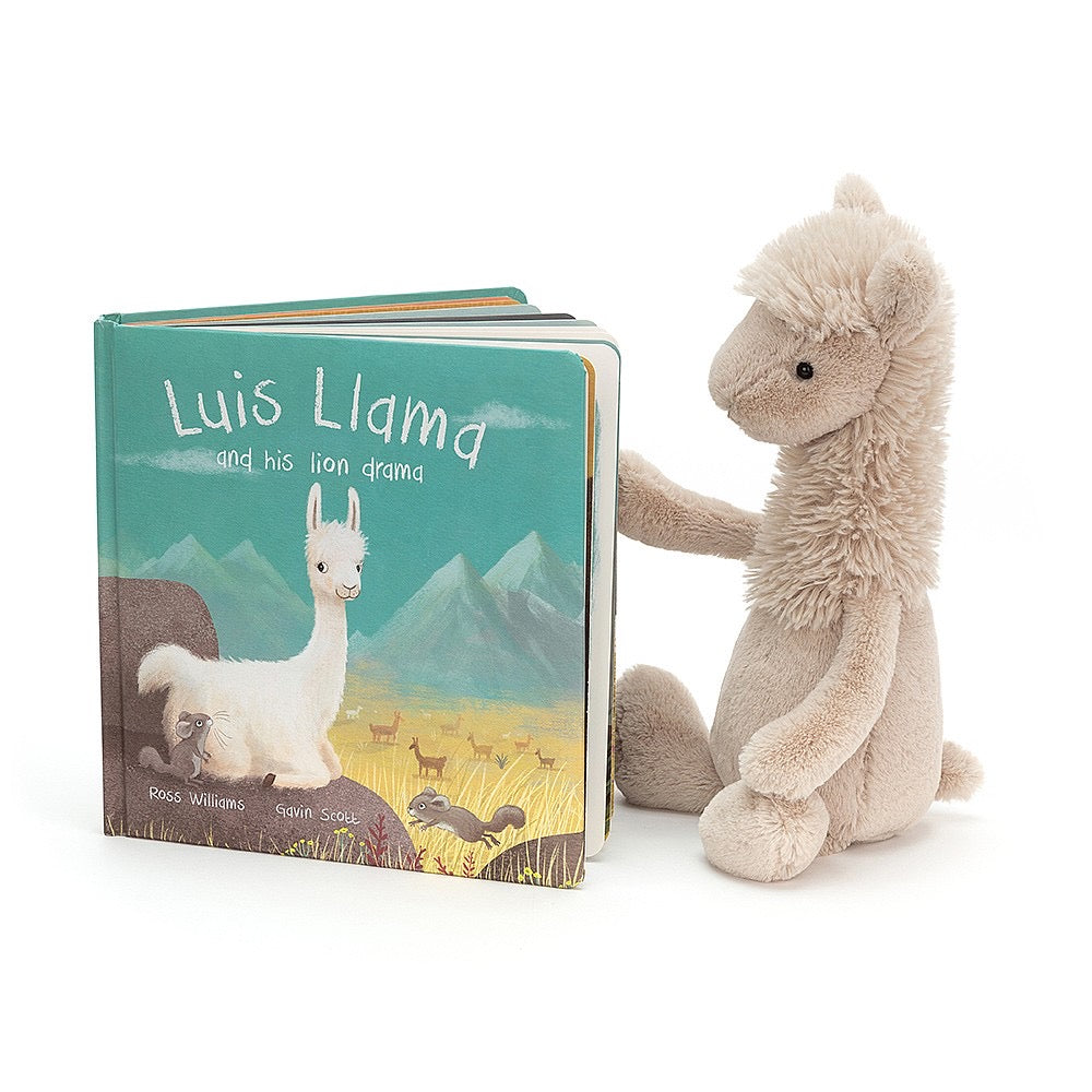 Jellycat Book - Luis Llama and His Lion Drama