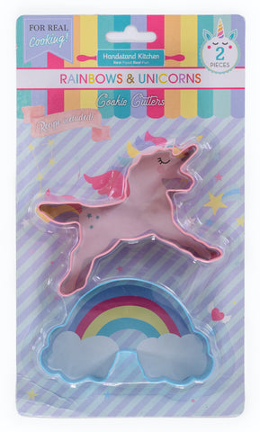 Unicorns & Rainbows Set Of 2 Cookie Cutters