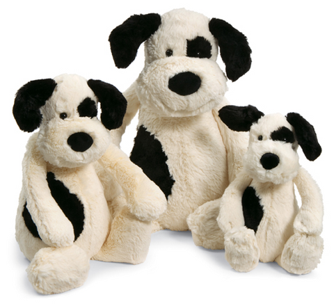 Bashful Black & Cream Puppy - Medium