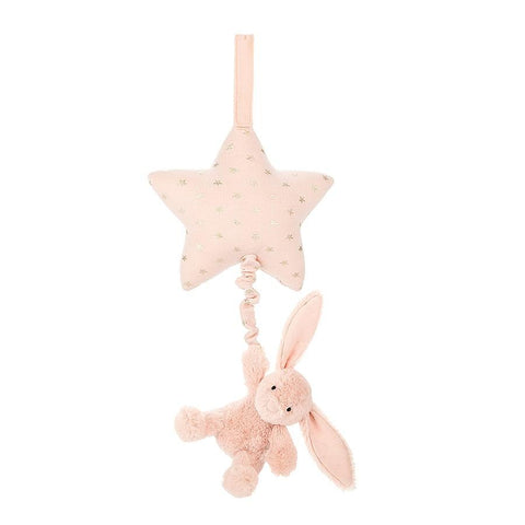 Bashful Blush Bunny Musical Pull by Jellycat