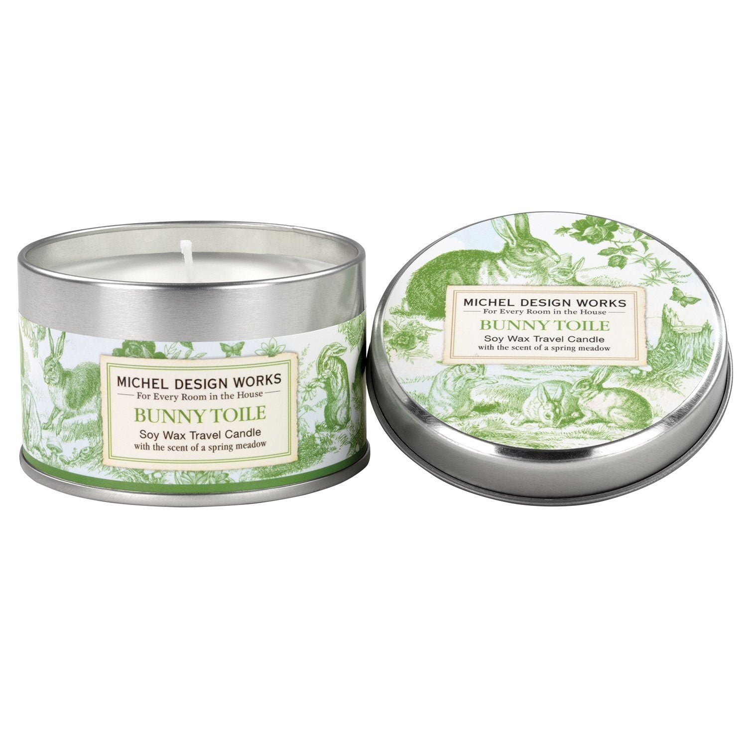 Bunny Toile - Soy Wax Travel Candle