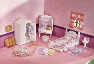Calico Critters Girl's Floral Bedroom Set