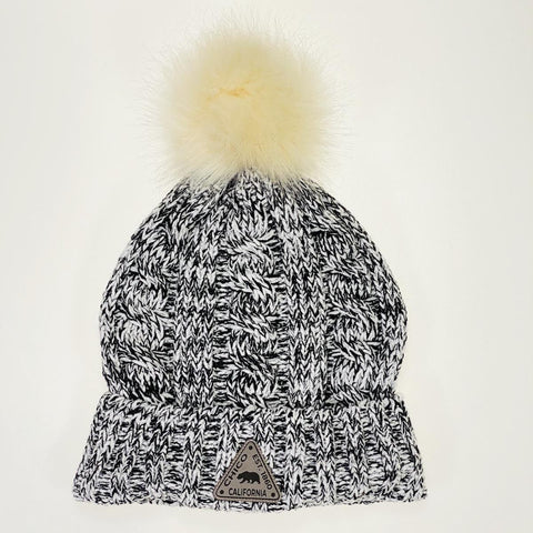 Chico Beanie with Pom and Small Patch