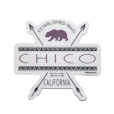 Chico Sticker - Think Thrice Bear Design