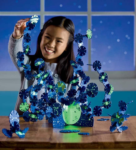 Connectagons® Glow-in-the-Dark Celestial 157-Piece Creative Building Set