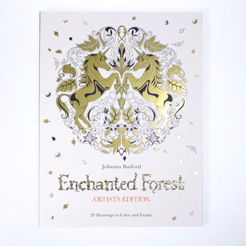 Enchanted Forest Artists Edition Coloring Book
