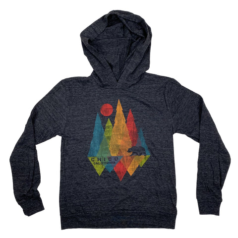 Kids Hooded Long Sleeve T-Shirt Shard Pines