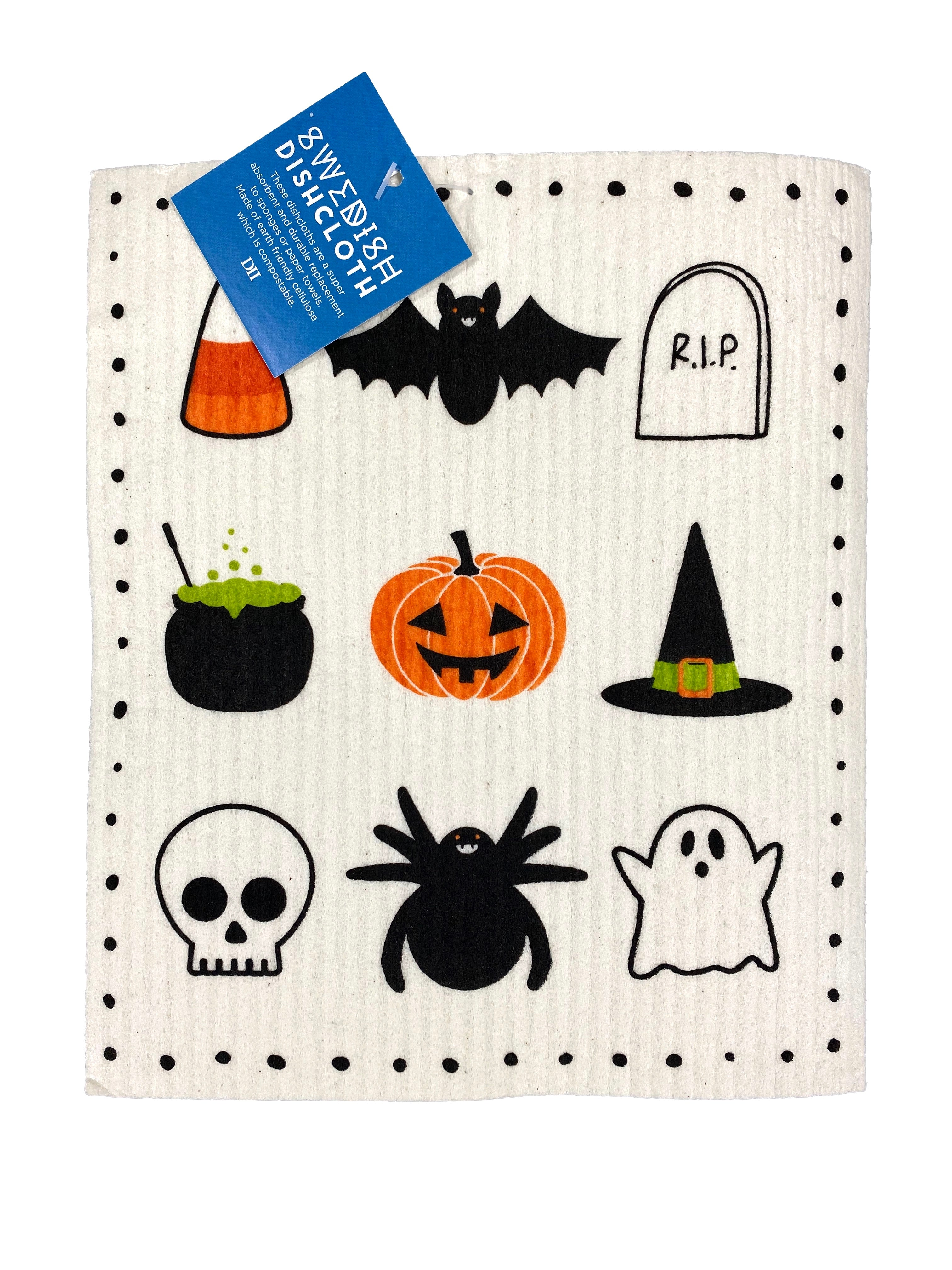 Swedish Dishcloth - Spooky Halloween