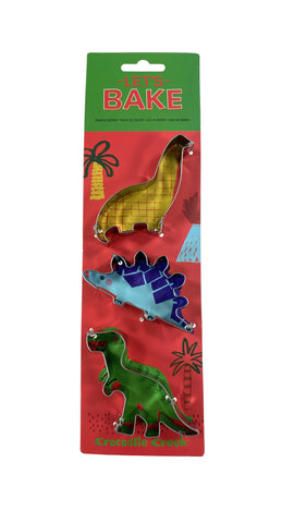 Let's Bake Cookie Cutter set of 3 Dinosaurs
