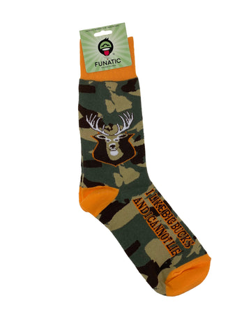Funatic Crew Socks I Like Big Bucks