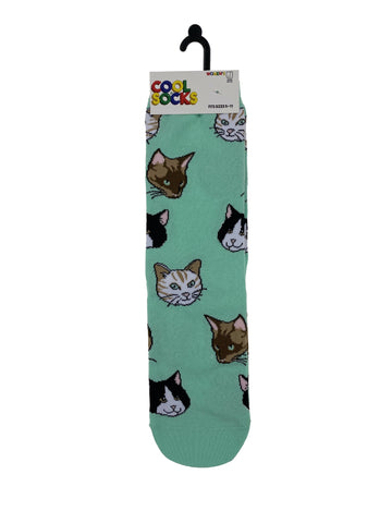 Cool Socks Womens Crew Cats