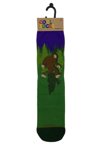 Cool Socks Mens Crew Sasquatch