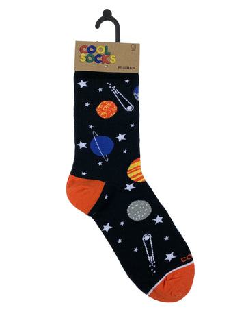 Cool Socks Mens Crew Planets