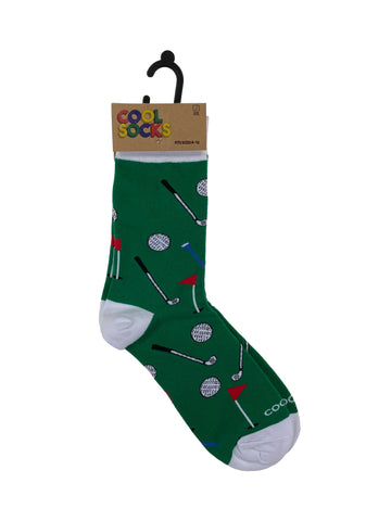 Cool Socks Mens Crew Golf