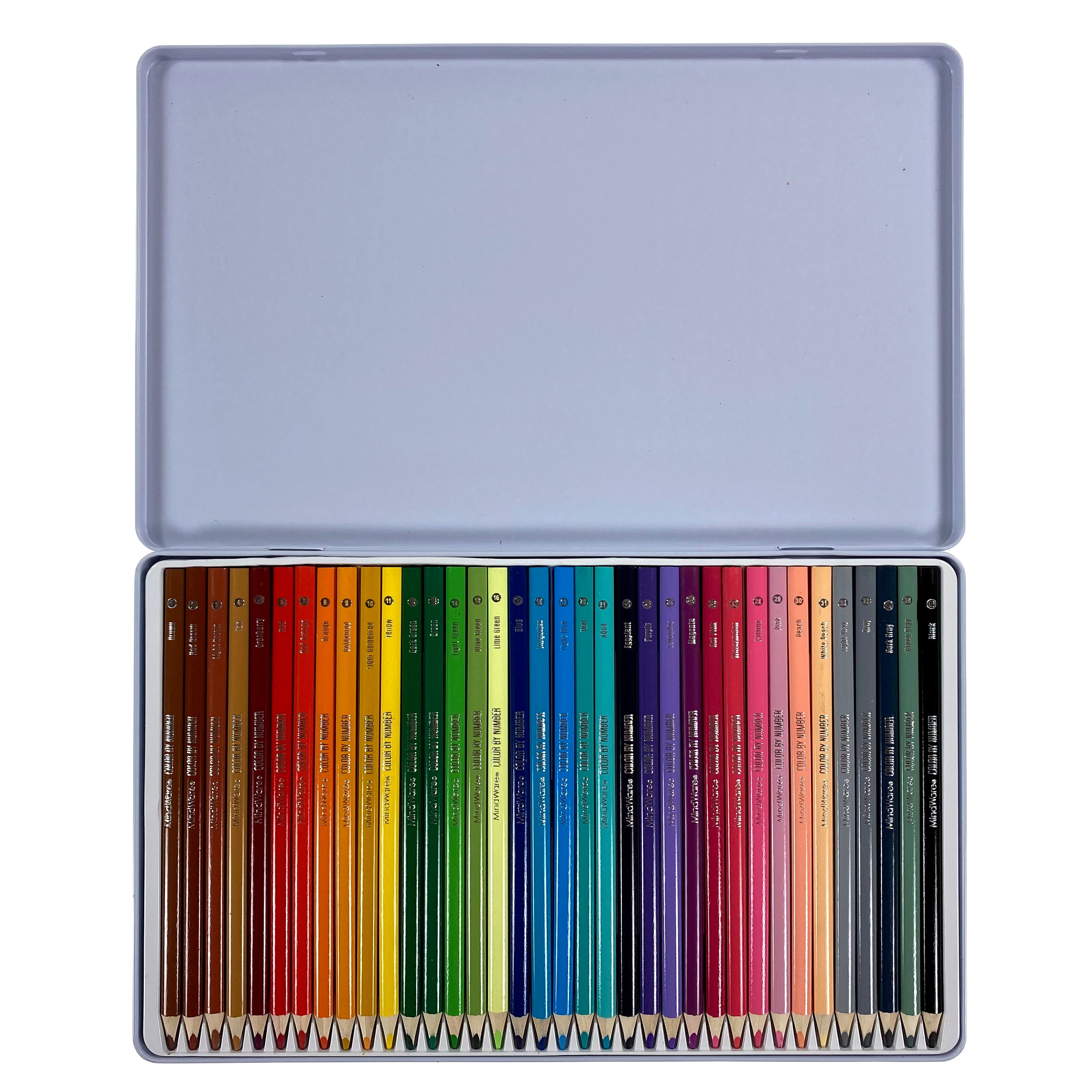 36 Color By Number Colored Pencil Set