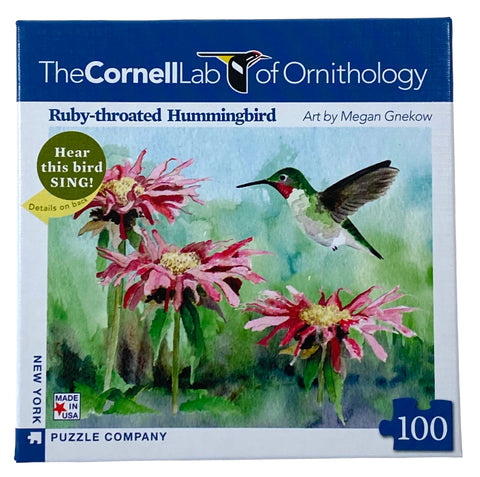 The Cornell Lab of Ornithology Ruby Throated Hummingbird 100 Piece Mini Puzzle
