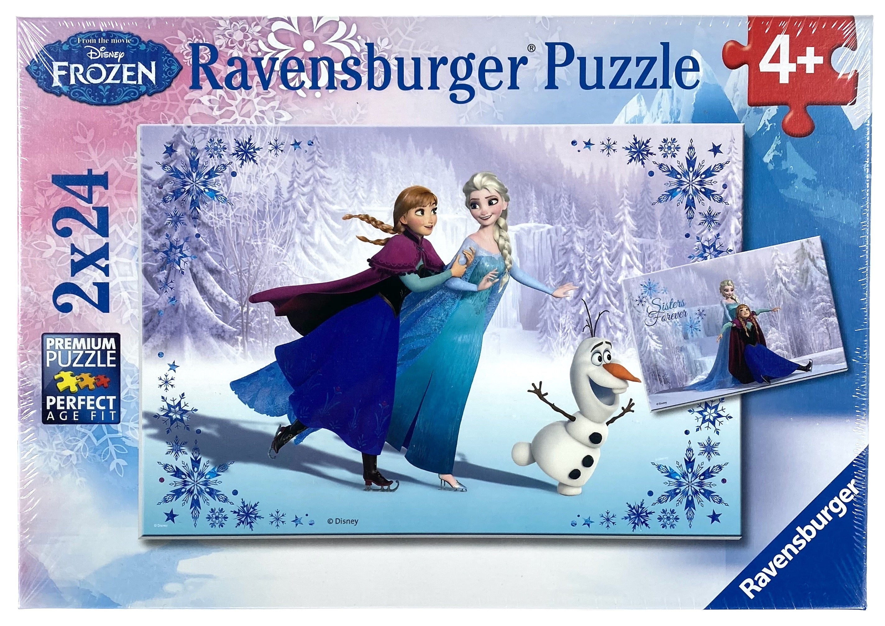 Disney Frozen Sisters Always 2X24 Piece Puzzles