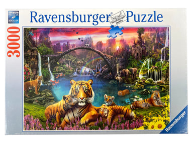 Tigers in Paradise 3000 piece puzzle by Ravensburger