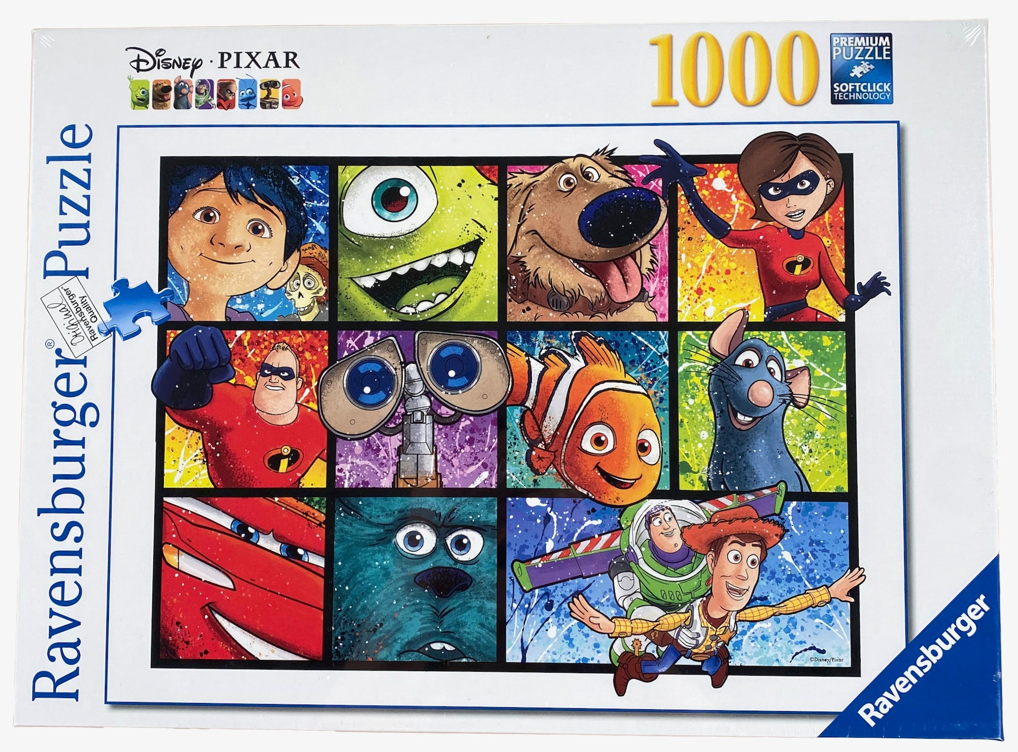 Disney Pixar Splatter Art 1000 Piece Puzzle