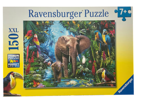 Elephants at the Oasis 150 Piece Puzzle