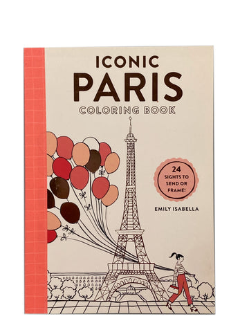 Iconic Paris Coloring Book