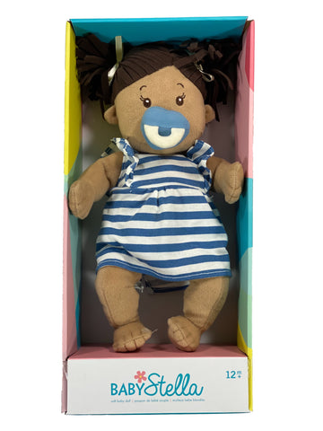 Baby Stella 12 inch Doll - Beige With Brown Hair