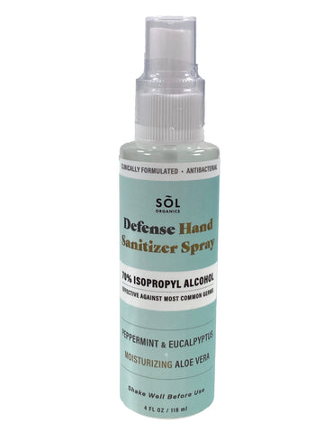 Sol Organics Defense Hand Sanitizer Spray
